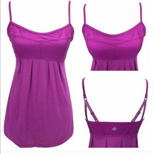 LULULEMON Heathered Ultra Violet Pink Debut Tank 6